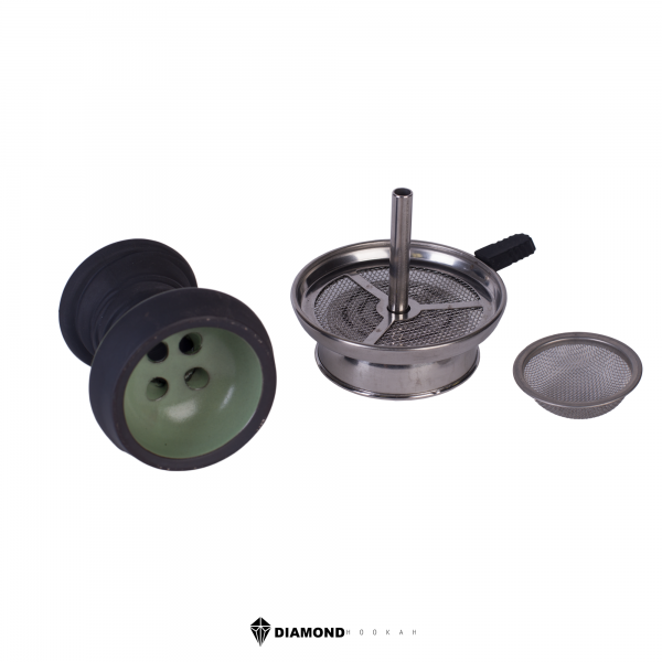 Diamond Hookah Steinkopf Set Grün